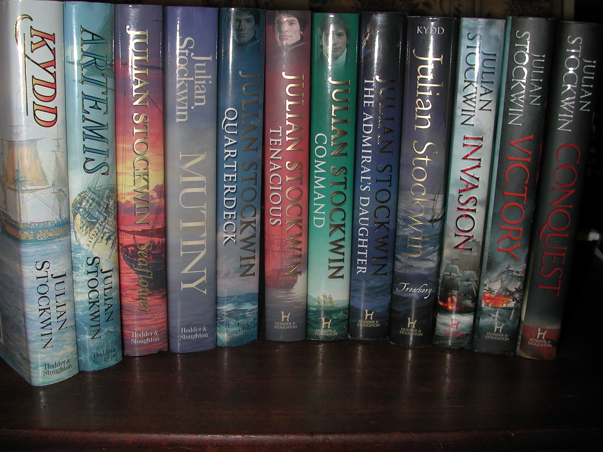 Stockwin Julian Set Of First 13 Books All Signed Editions Uk Novel With